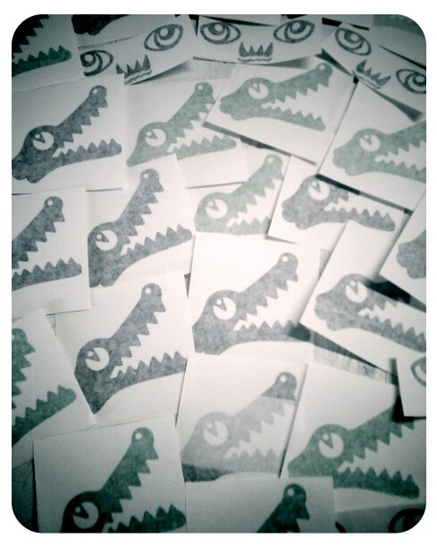 Alligator Stickers I've made this afternoon…
