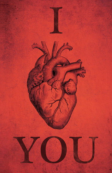 I Anatomically Heart You Art Print - $11.99 - http://etsy.me/H3RS4j