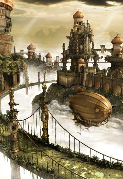 thesteampunkblog:  Steampunk City.. Wanna Visit