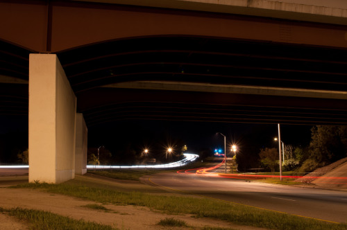 Week 15 A long exposure shot of the Western Ave bridge in Raleigh, NC at night