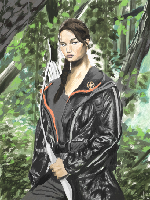Katniss Everdeen by: Gilbert Pena