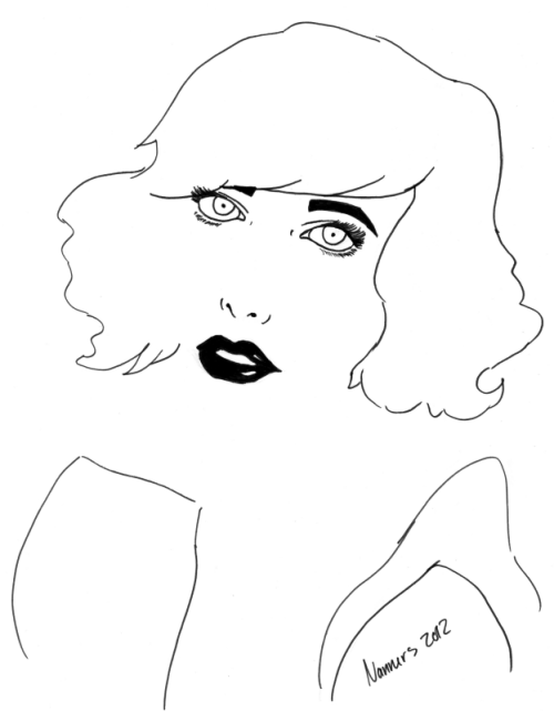 Challenge #2 entry: I decided to make a quick 30-minute sketch of Kimbra inspired by her song Cameo Lover. I wanted my sketch to be a spin off of the title. For those who don't know what cameo stands for: A short descriptive literary sketch that neatly encapsulates someone or something. Youtube link of Cameo Lover: http://www.youtube.com/watch?v=elyk9MBY72U - Nathalia (Nanners)