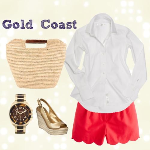 Gold Coast by icey0701 featuring golden watches