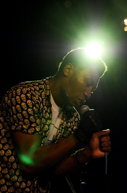 untitled on Flickr.Willis Earl Beal opening up for SBTRKT in Madison last night.