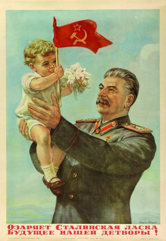 k8tybacon:  caseyapplebox:  Stalin: The Gardener of Great Happiness  Look at that mustache….