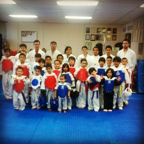 My students.  :)  #taekwondo #martialarts #teaching #awesome (Taken with Instagram at Jeong's Black Belt Academy)