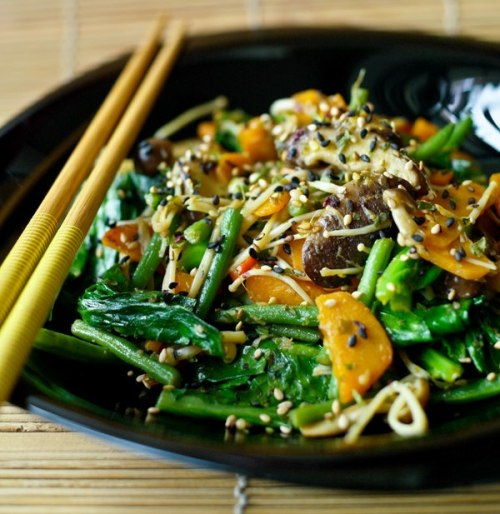 gastrogirl:  tamari and sesame vegetables.