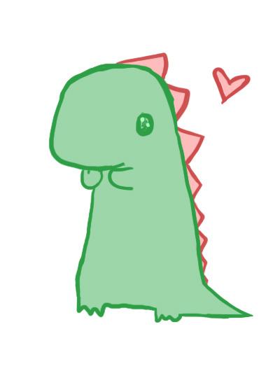 baby dinosaur on tumblr