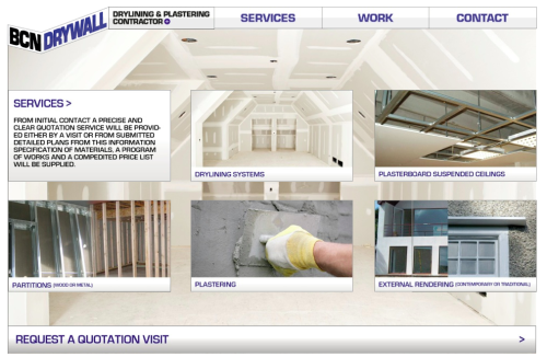A website design I did for BCN Drywall a plaster & dry lining company now online. © BCN Drywall Ltd 2012