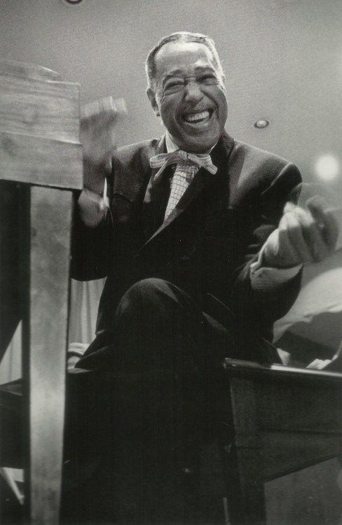 theodorafitzgerald:   Duke Ellington on tour in Tennessee, 1952; photographed by Hugh Bell