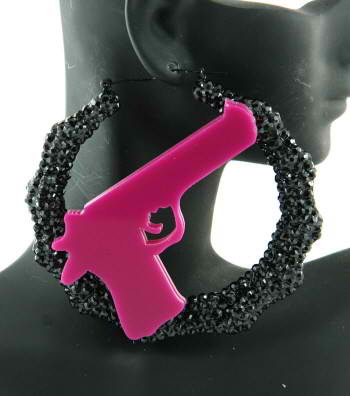 Stickup Kid earrings pink $20  If you would like to purchase, email me at preciousanddevin@gmail.com
