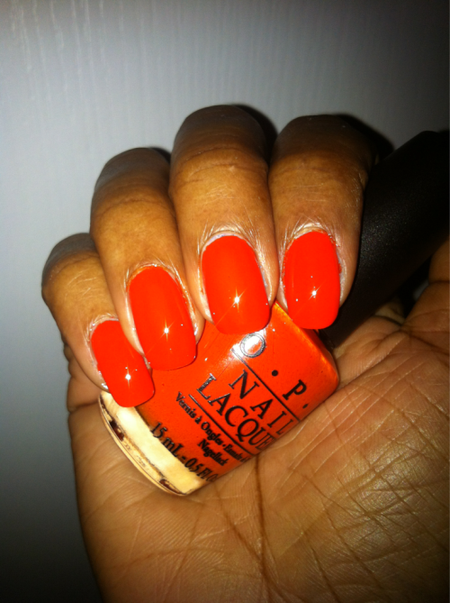 OPI A Roll In The Hague Season: S/S 2012 Shade: True Clean Orange Formula: Creme Top Coat: Seche & Chanel Extreme Photo: Ms. Lacquer Lookbook