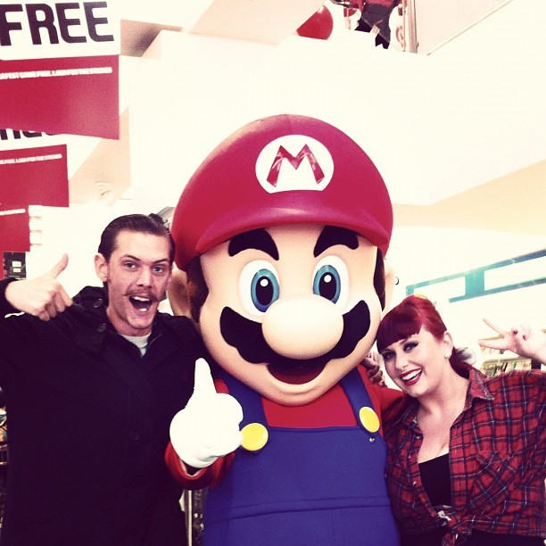 Oh y'know, just hanging out with Mario #nintendo (Taken with instagram)