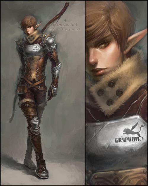 Another elf, this one with a slightly modern flair. Artist: Lena
