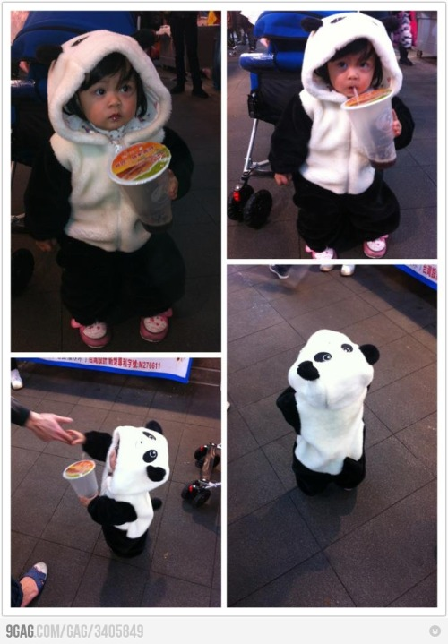 So cute! Kdjghaksdjkdfj! As always, babies just somehow always make me happy. I don't know what it is, but that's just how it is. Therefore, I must share this adorable picture and express how determined I am to find a suit like this. Do not be surprised to find my future kids in outfits like this. It's definitely going to happen. So if anyone can help me on my quest to find this, I'd appreciate the heads up :)