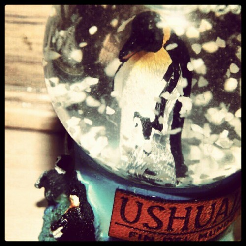 Snow globe my grams gave me; Argentina. (Taken with instagram)