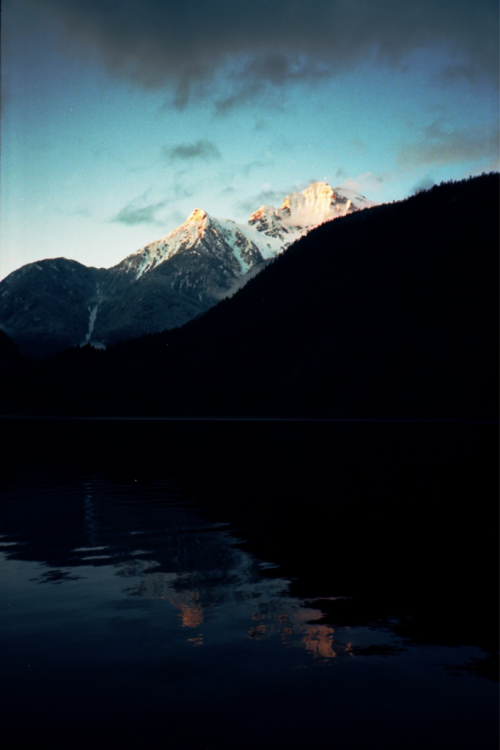 Colonial Peak from Diablo Lake in the morning.