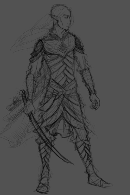 89ravenclaw:  WIP. Rough linework for the Glorfindel design I've been working on. I've been doodling him for months now and it's about time he moved out of my sketchbook and into Photoshop. Going to try and paint over this tomorrow if I have time. There are few design bits that I know will change in that next stage. I think I'm going to post more of my art here, rather than keeping in exclusively on my blog and DA. So expect tons of First Age characters.
