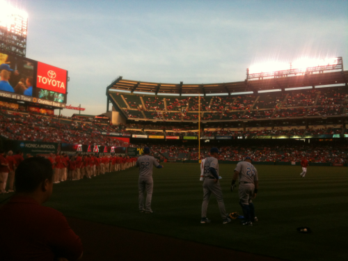 Opening day, Angels vs Kansas City - 3/6/12… Just another day at the office!!  Baseball might just be a game for some people.. but for me it's how I live everyday, and it gives me the motivation I need to wake up another day!!   Baseball Lives!!