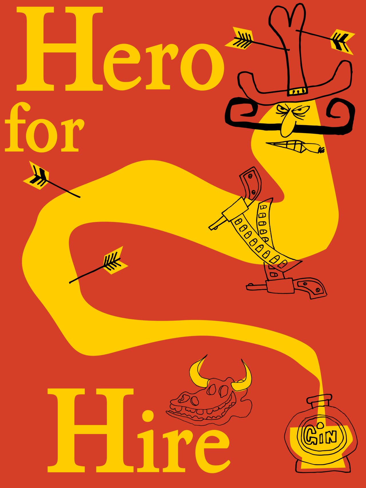 Hero for hire — t-shirt by Diabolickal PLAN t-shirt shop