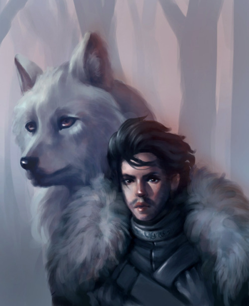 I've been wanting to do some fan art so here's an attempt at Jon Snow from Game of Thrones, the second best character after Tyrion bahaha.