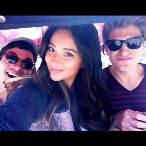 peachesandrainbows: love my boys. So cute :) #PLL  Shay, Ian and Keegan hanging around today. love them.
