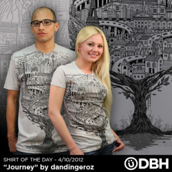 """Journey""Shirt of the Day April 10 2012AVAILABLE at DesignByHumansGRAB ONE NOW!!!!!http://www.designbyhumans.com/shop/detail/9725/"