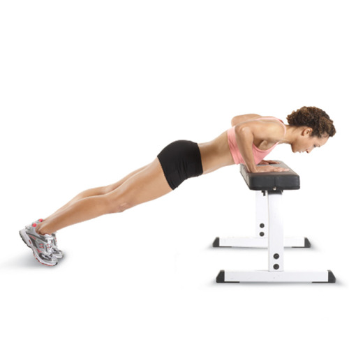 fitvillains:  Incline Pushups: Off your knees & on your way. This is a great pushup modification you may want to try - especially on the go! It's not always possible to drop and bust out a set of pushups from the floor & beginners may still be struggling with harder variations. This modification is one you can do ANYWHERE: at work, school, or when you're out on a run.