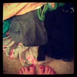 The laundry that awaits me for my day off. Sigh. #fromwhereistand #bah (Taken with instagram)