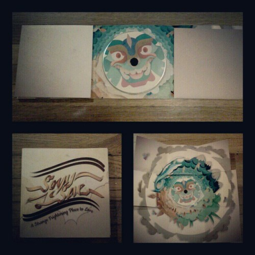 @todiefor @sunandsparrow CD package I designed and created from scratch #handmade #todieforphotoaday #cdpackage (Taken with instagram)