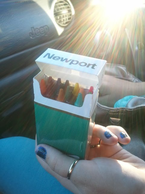 my best friends ghetto crayon box lol :)