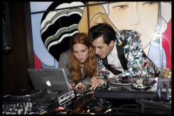 houseonatrampoline:  Mark Ronson and wife Josephine de la Baume(Let me know if this is yours, a friend sent it to me, so I have no credit for it)