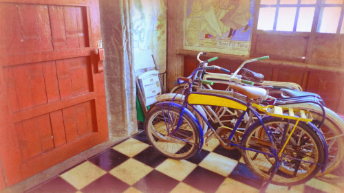 Bikes in a Cabin At Las Casas Filipinas de Acuzar, Bataan February 2012