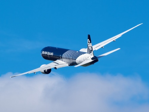 Air New Zealand's All Black 777-300ER displaying at Warbirds Over Wanaka Type: Boeing 777-319ER Registration: ZK-OKQ Location: Wanaka Airport Date: 08/04/2012