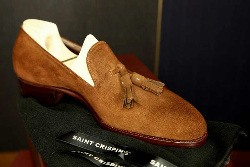 Saint Crispin's for Mr. Uno.  This is an extremely tasty tassel loafer.