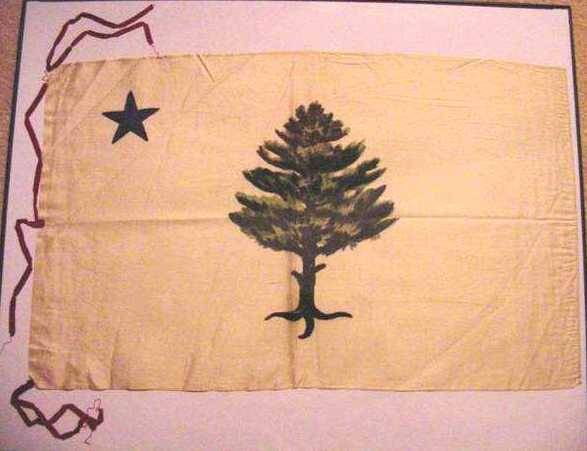 Either the first, or one of the first Maine state flags.