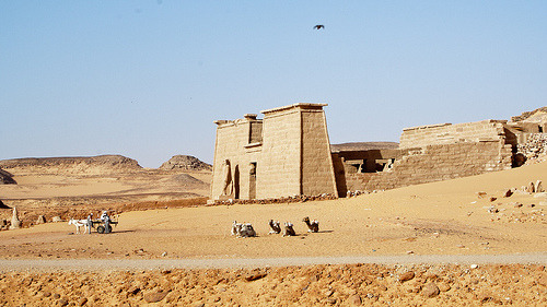 dwellerinthelibrary:  Temple of Dakka, Wadi El Sebua (by AndrewMJ)