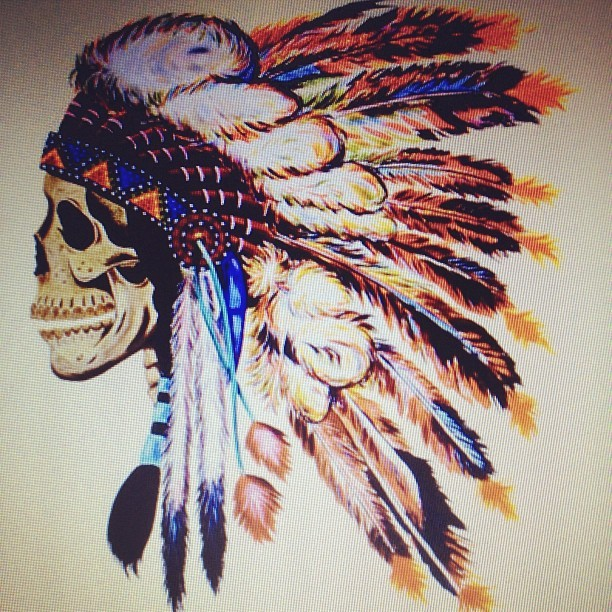 Ber till vädergudarna #indian #feathers #jj #skull #colours #beautiful #rain #followme #instaphone #instagood #instadaily #tattoo #swag  (Taken with instagram)