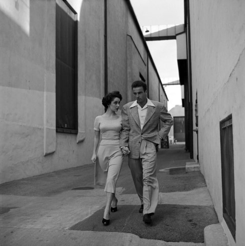 Unpublished. Elizabeth Taylor and Montgomery Clift, Hollywood, 1950