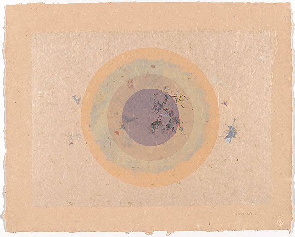 yama-bato:  Kenneth NOLAND 1924 United States of America – 2010 Circle I, II-55 1978 monograph, planographic coloured, pressed paper pulp, monoprint, lithograph Impression: unique comp 41.2 h x 51.2 w cm  Purchased 1979 Accession No: NGA 79.2896 © Kenneth Noland/VAGA. Licensed by Viscopy