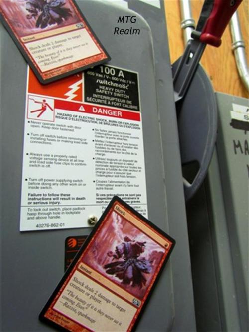 Danger - SHOCK Hazard! Moar funny Magic the Gathering geekery at work.