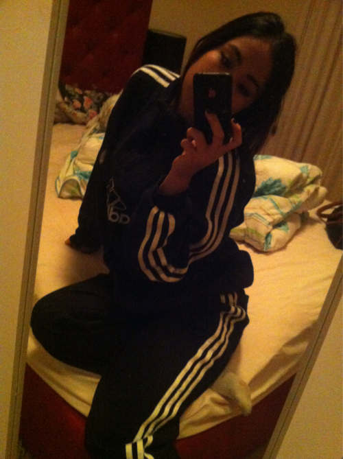 Me in me Adidas track suit woohoo nigga what