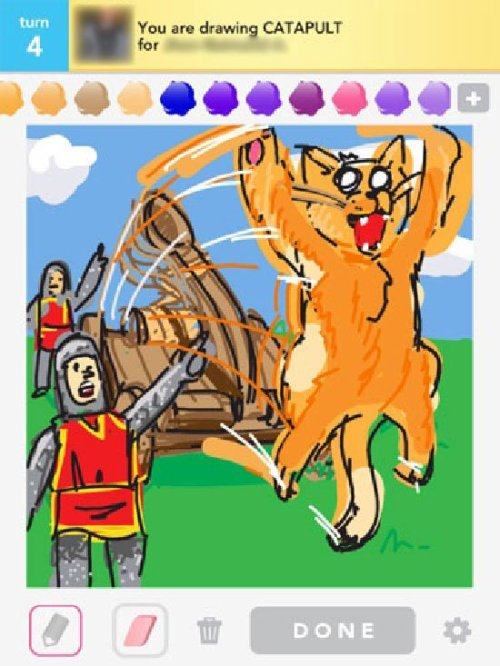 pbsparents:  Draw Something is an app that's created masterpieces worldwide! Or at least, I found these ones on Google…  Probably biased - but obviously our favorite are the Sesame Street characters! Can you guess the rest? (Of course you can, the answers are shown!!)