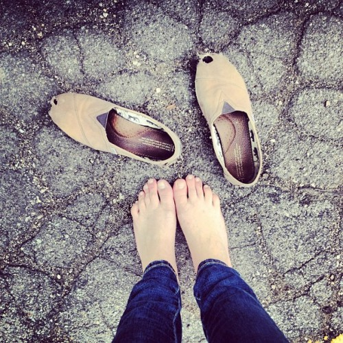 #TomsShoes #ADayWithoutShoes #toms #me #feet #barefoot #April10 #4/10 (Taken with instagram)