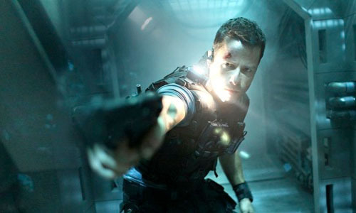 Watch the first five minutes of Lockout online now Lockout, the sci-fi action thriller, has released its opening scene online, in which Guy Pearce finds himself being interrogated by Peter Stormare and his punch-happy henchmen.This first scene establishes Pearce's badass credentials with a series of smartass one-liners, an ability to take a punch and a bone-jarring fight scene to boot…