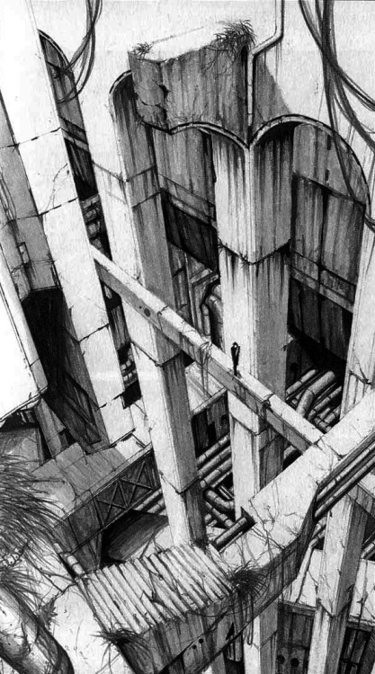 speciesbarocus:  Megastructure. © Tsutomu Nihei.  I think I might have to buy Biomega