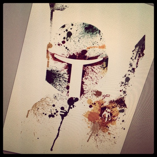 Paint Splatter Boba DONE!  Next Yoda ;)