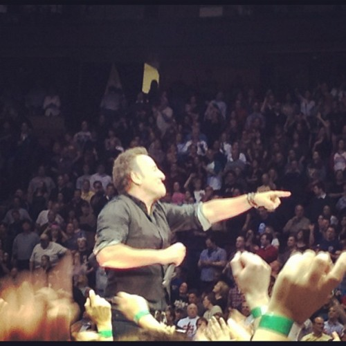 Springsteen at the IZOD Center. An amazing show. 04.04.2012 (Taken with instagram)