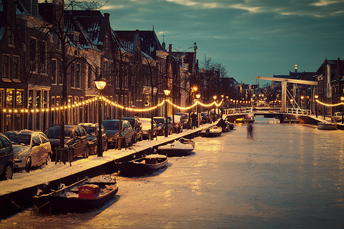 allthingseurope:  Frozen Dutch Canal (by Allard One)
