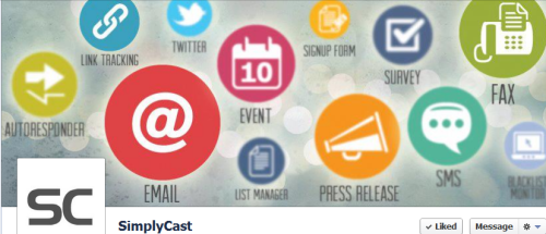 Like SimplyCast on Facebook today.